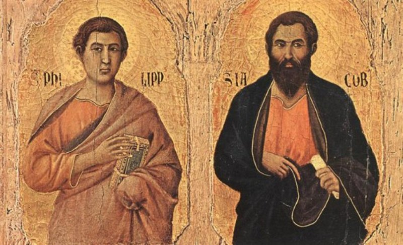 Ilustrasi St. Filipus & Yakobus Rasul. Credits: https://www.facebook.com/thomas.suratno.7