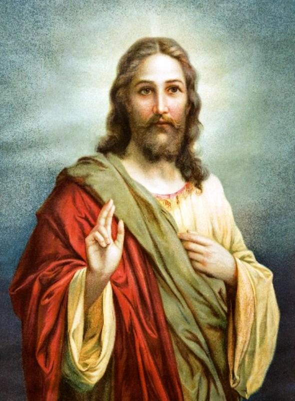 Yesus Kristus ilustrasi. Credits : www.facebook.com/thomas.suratno.7