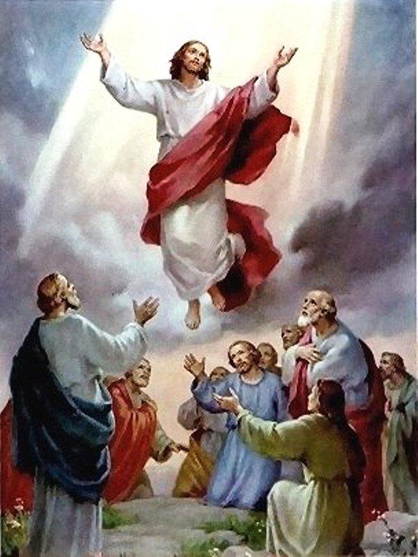 Yesus naik ke surga. Credits : https://www.facebook.com/thomas.suratno.7