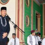 Pjs. Gubernur Didik Ajak Masyarakat Jaga Ukuwah Islamiyah dalam Safari Ramadhan di Tegineneng