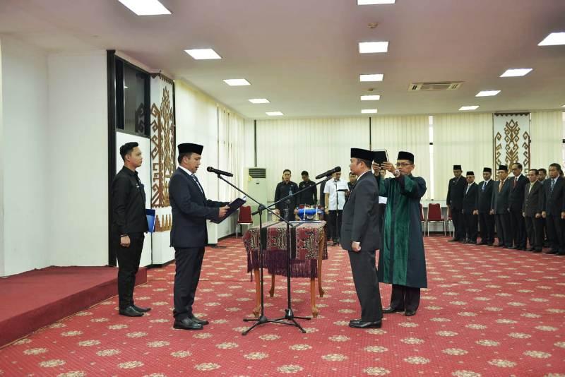 Gubernur Lampung M.Ridho Ficardo melantik Kepala Perwakilan Badan Pengawasan Keuangan dan Pembangunan (BPKP) Provinsi Lampung.