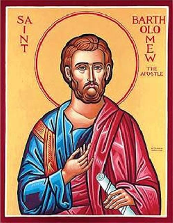 Ilustrasi St. Bartolomeus, Rasul. (Facebook Thomas Suratno)