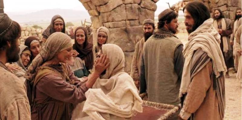 Ilustrasi Yesus pergi ke kota Nain. (Foto : Facebook Thomas Suratno)