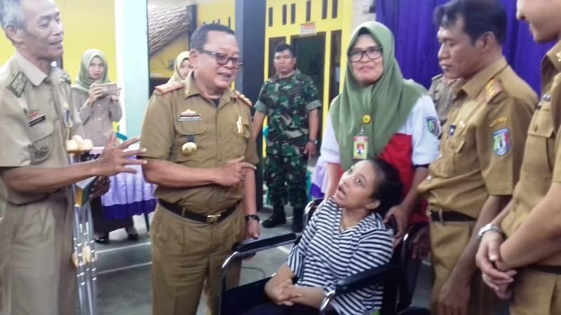 Kepala Dinas Sosial Provinsi Lampung, Sumarju Saeni pada acara pembukaan UPSK (28/08/2018) di Kecamatan Banyumas, Kabupaten Pringsewu.