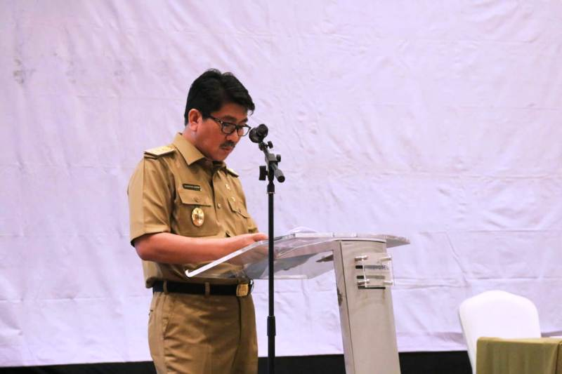 Sekretaris Daerah Provinsi Lampung, Hamartoni Ahadis.