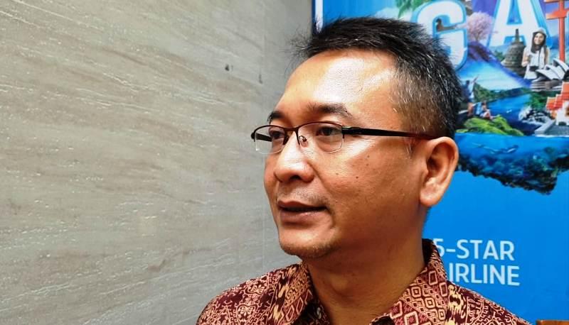 i General Manager (GM) Garuda Indonesia Cabang Tanjungkarang, Gatot Rijadi. (Foto : Robert)
