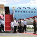 Gubernur Ridho Sambut Langsung Presiden Joko Widodo di Bandara Radin Inten II