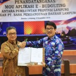 Pemprov dan Bank Lampung Teken MoU E-Budgeting