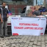 Pasca Tsunami, Pertamina Kirim BBM 200 Liter dan Bahan Makanan ke Pulau Legundi, Kabupaten Pesawaran, Lampung