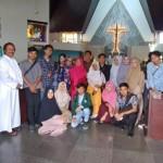Puluhan Mahasiswa UIN Raden Intan Lampung bekunjung ke Gereja Katolik Maria Ratu Damai