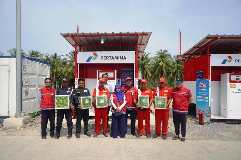 General Manager Pertamina Marketing Operation Region II Sumbagsel, Primarini bersama sebagai tim Satuan Tugas Ramadhan dan Idul Fitri 2019.