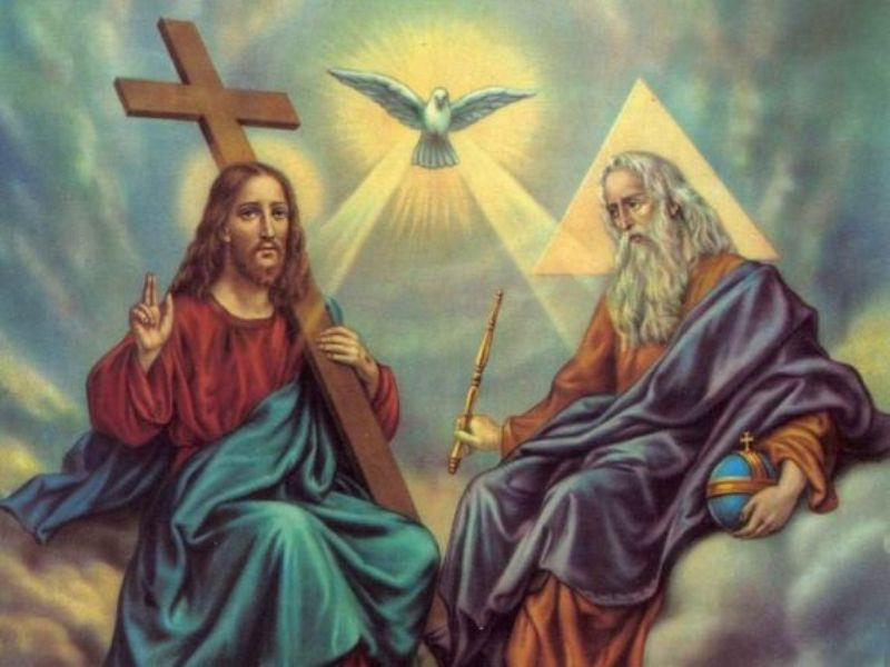 Ilustrasi Allah Bapa dan Yesus. (Foto: sangsabda.wordpress.com)